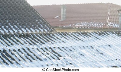 asbestos roof vaporization - Evaporation on asbestos roof...