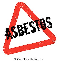 Asbestos rubber stamp. Grunge design with dust scratches....
