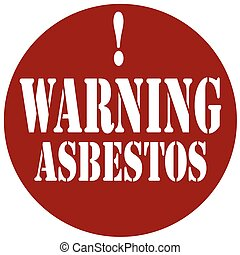 asbestos-stamp, avertissement
