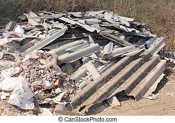 Asbestos waste
