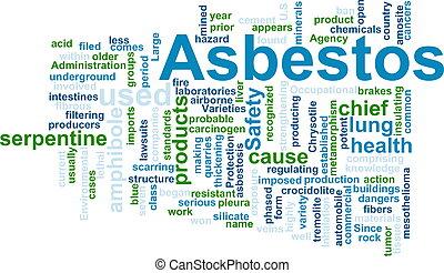 Asbestos word cloud - Word cloud concept illustration of...