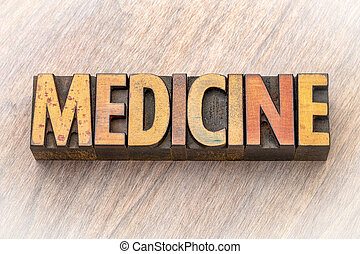 asbtract, mot, -, bois, médecine, type