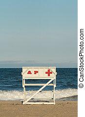 Asbury Park New Jersey Lifeguard Chair - An empty Asbury...