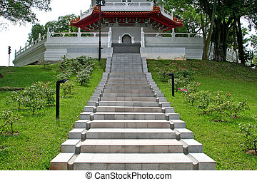 Ascending towards peace - Stairway to peace and serenity