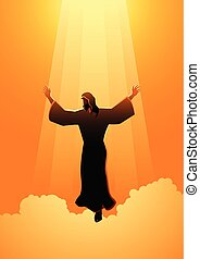 ascensão, christ, dia, jesus