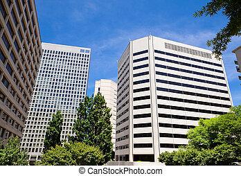 ascensão elevada, edifícios escritório, rossyln, virgínia,...