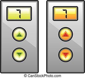 ascenseur, boutons