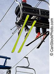 ascenseur chaise, ski