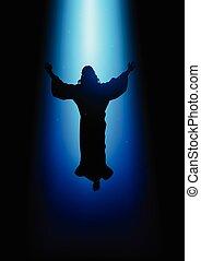 ascension, christ, jésus