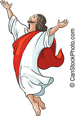Ascension of Jesus isolated - Ascension of Jesus raising...