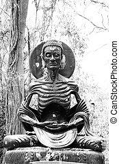 Asceticism Buddha Statue