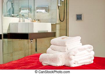 asciugamani, camera letto