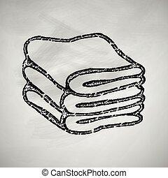 asciugamani, icona