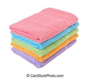 asciugamano, asciugamano bagno, fondo.
