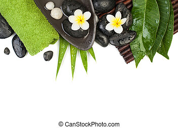 asciugamano, sano, tropicale, oggetti, verde, terme, tavola, bianco, massaggio