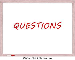 asciutto cancellare cartolina, domande