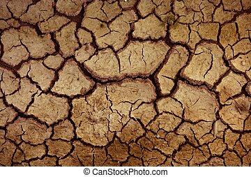 asciutto, pavimento, suolo, fondo, argilla, rosso, struttura