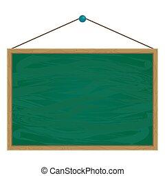 asciutto, scuola, cancellare, chalkboard verde, classroom.