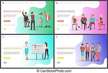 ascoltatori, addestramento, presentazione, affari