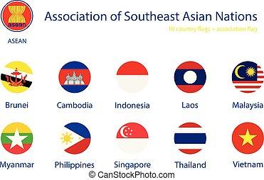asean , σημαίες , μικροβιοφορέας