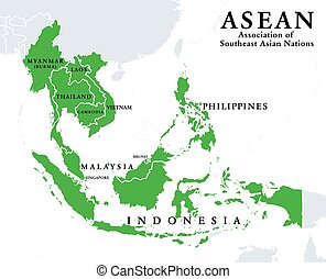 ASEAN, Association of Southeast Asian Nations, member states...