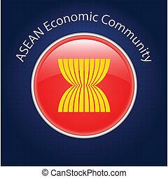 ASEAN Economic Community (AEC) - Vector Illustrator