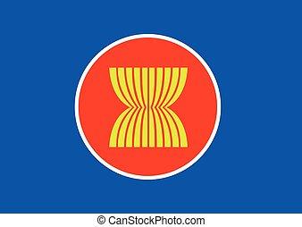 Asean flag icon, southeast asia flag