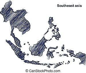 asean, mapa