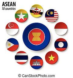 asean, ), (, nationer, sydost, medlemskap, asiat, ...