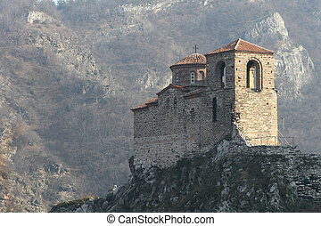 Asen's Fortress in  the Bulgarian Rhodope Mountains