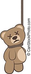 asesinato, oso, ilustración