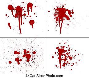 asesinato, salpicadura, horror, violencia, goteo, sangriento, gore, rojo, sangre