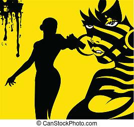 asesino, amarillo