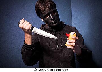 asesino, máscara