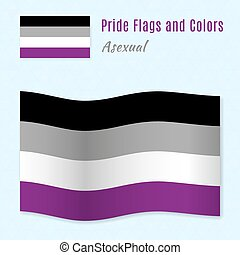 Asexual pride flag with correct color scheme. - Asexual...