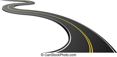 asfalt, abstrakt, isoleret, baggrund., hvid, vej