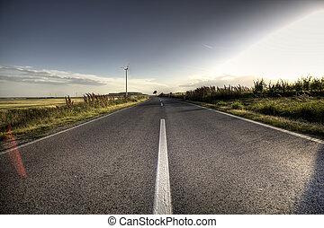 asfalter vej