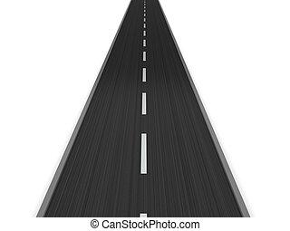 asfalteren straat