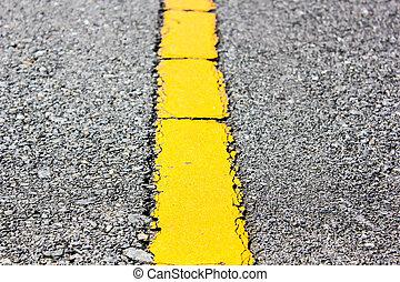 asfalto, arriba, amarillo, superficie, plano de fondo, ...