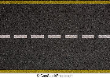 asfalto, autostrada, con, impronte strada, fondo