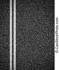 asfalto, cima, strada, fondo, vista