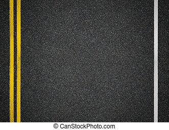 asfalto, cima, strada, vista., marks., autostrada