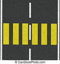 asfalto, como, abstratos, fundo