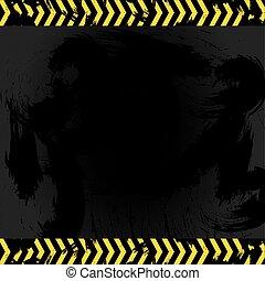 asfalto, manchas, linhas, sinal, cautela, par