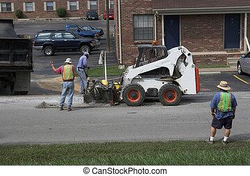 asfalto, reparación, 2