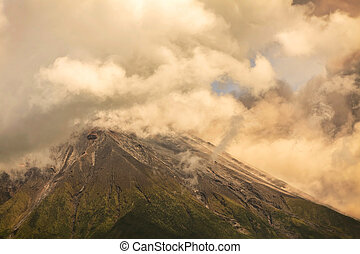 Ash And Gas From Tungurahua Volcano - Bursts Of Ash And Gas...