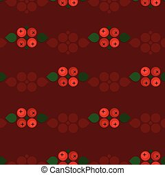 Ash berry decorations - vector background