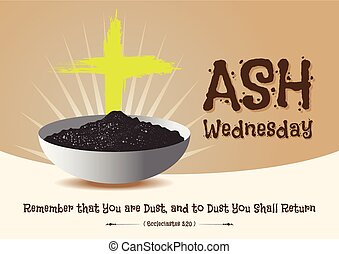 Ash Wednesday abstract symbolic religious Christian symbol...