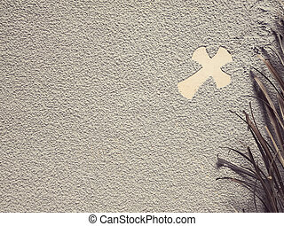 Ash Wednesday concept. - A cross formed out of ashes....