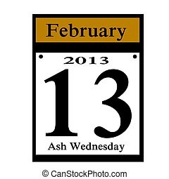 ash wednesday date - ash wednesday 2013 calender icon